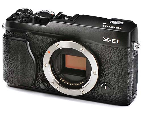 fujifilm x e1 black Here She Is, the New Fujifilm X E1    A Head On Olympus OM D Competitor?