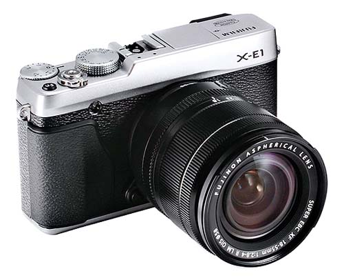 fujifilm x e1 silver lens Here She Is, the New Fujifilm X E1    A Head On Olympus OM D Competitor?