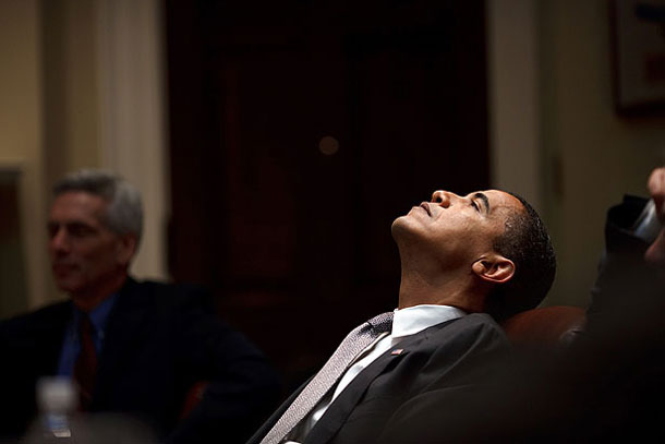 How Obama lost his mojo -- during a budget meeting in the Roosevelt Room in January 2009 | Pete Souza, White House photographer