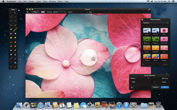Pixelmator is an inspiring, easy-to-use, beautifully designed image editor that nearly replaces Photoshop.