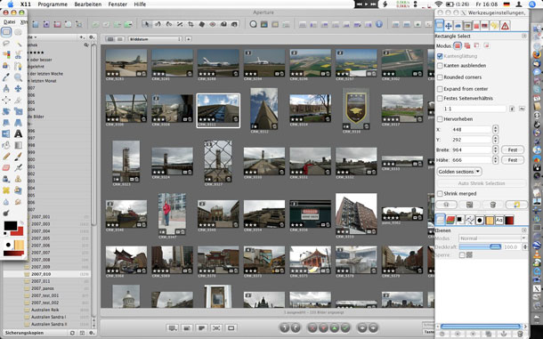 Open source GIMP is available for Mac, Windows and Linux.