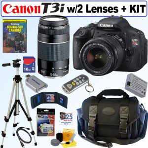 Ready to go: Complete Canon T3i bundle with two lenses for $749.