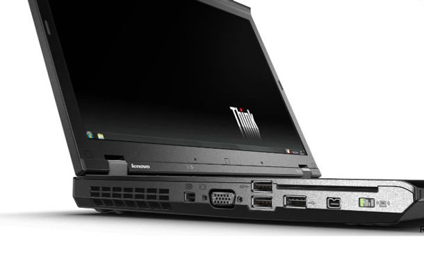 Some of the W530's ports.