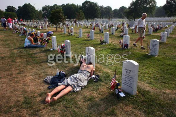 War dead honored on Memorial Day weekend. | John Moore/Getty Images