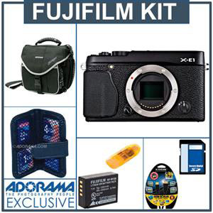 $1,049 for the Fujifilm X-E1 bundle + save up to $1,002 with lenses and accessories.