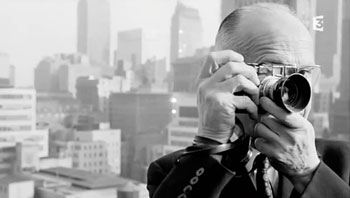 Henri Cartier-Bresson around the time of his last assignment before he really and finally gave up photography in 1976.