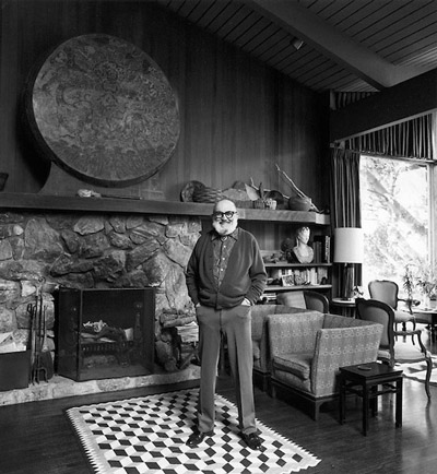 Ansel Adams at his lush home in Carmel, California. | Alan Ross / rossimages.net