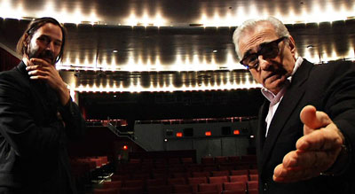 "Keanu Reeves and Martin Scorsese in the documentary ""Side by Side."""