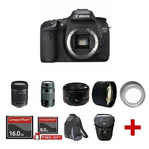One of the Canon EOS 7D multi-lens kit bundles with huge savings at eBay.