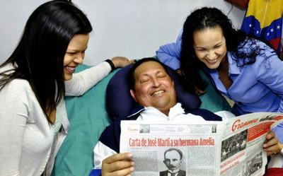 A few days before the leader's death he and his daughters were all smiles.