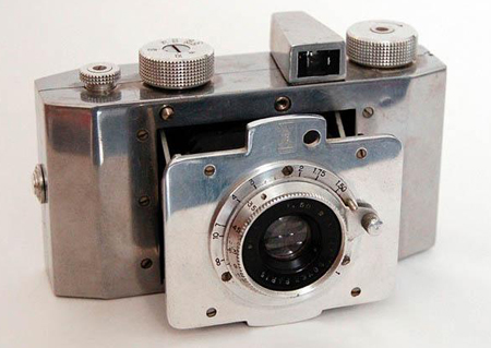 The Derby-Lux was made by Gallus of Paris in 1945. The camera was quite ahead of its time --  it was constructed of machined aluminum, a design that Apple would embrace years later in its MacBook Pro series. The most sought-after cameras of the future won't look much different.