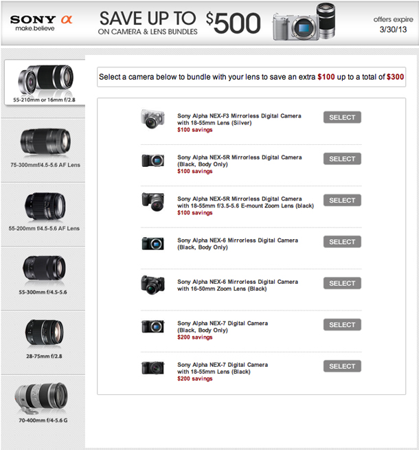 Save up to $500 on Sony.