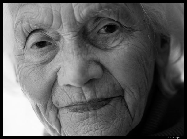 My 90-year-old mother-in-law. | Dierk Topp