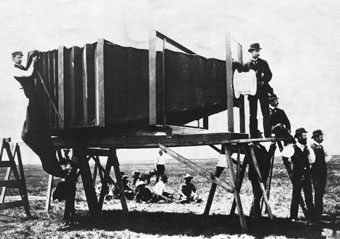 A post that's supposed to be about extreme photographer George R. Lawrence with his giant camera turns into...