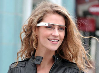 A prototype model of Google Glass which might be on the market by 2014.