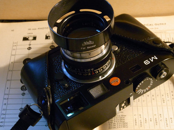 The 1934 5cm F1.5 Sonnar, converted using a 1980s Jupiter-3 focus mount. Brian Sweeney