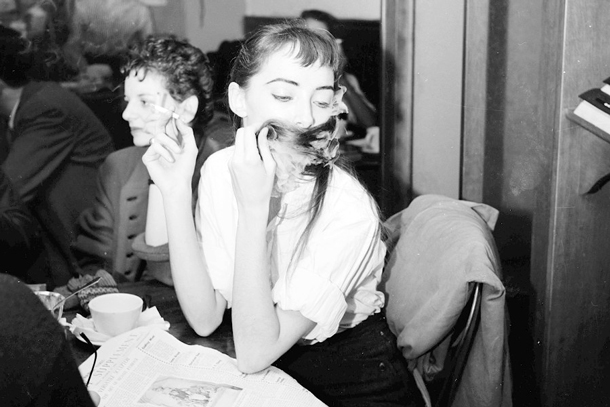 "Girl in Café | Arthur ""Weegee"" Fellig"