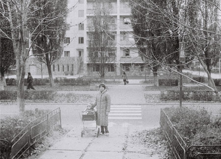 November 1985: Alina Rudya with her mother in the town of Prypyat near Lenin Street 17.