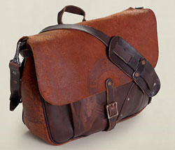 The RRL Leather Mailbag -- getting closer to the perfect camera bag, but still too big and impractical.