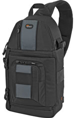 The Lowepro SlingShot 202 AW: ugly, but functional.