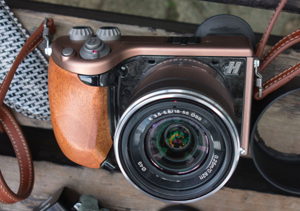 The Hasselblad Lunar, metal and wood finish made to look like cheap plastic. | Brad Morris