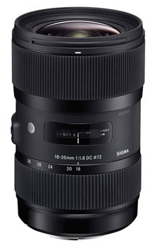 World's fastest zoom, the Sigma 18-35mm F1.8 for Canon, Nikon, Pentax, Sigma and Sony mounts.