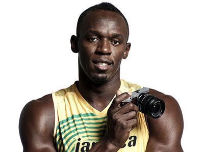 Usain Bolt likes the NX300: He may not be a photographer, but the fastest man on earth sure as hell knows what's fast...