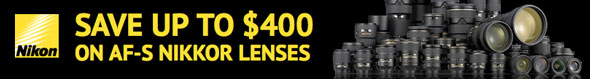 Nikon Lens Sale — Save Up to $400