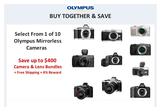 Save Big on Olympus Mirrorless Cameras