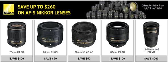Save Up to $260 on Nikkor Lenses Till 6/14