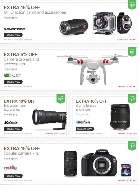 eBay Camera Discount Coupons