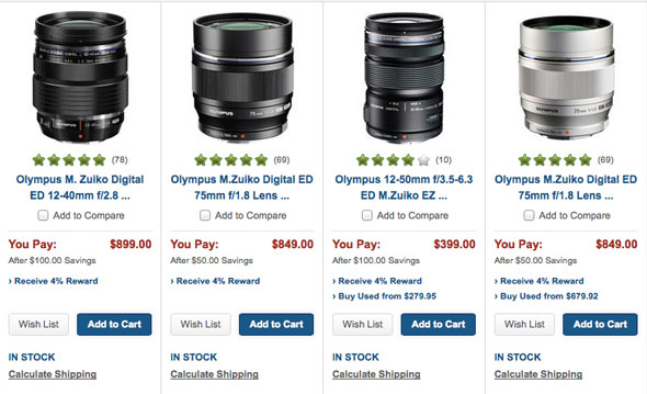 Save Up to $100 + 4% on Select Olympus Lenses