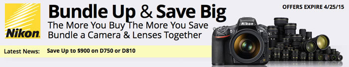 Nikon Savings Extended, Plus $900 Off Nikon D750!